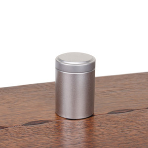 Wholesale 45 mm Round Column Small Tea Tin Box Metal Candy Storage Boxes Seal Lip Pocket Carry Case colors