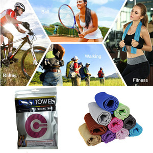 Wholesale Ice Cold Towel with Retail Bag Cooling Summer Anti Sunstroke Sports Exercise Cool