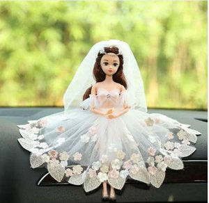 Wholesale Creative Car Interior Decorations Bride Wedding Diamond Ornaments Princess Wedding Doll Girl Skirt Toy Gifts Car Accessories