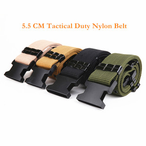 High Quality Cheap 3 Colors S Outside Tactical Belt Army Combat Thickening Belts 5.5 CM Adjust Emergency Rigger Survival Waist Belt