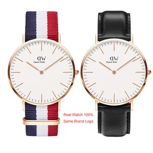 Wholesale Daniel Watch Top Luxury Mens Women Watches Famous Designer Gold mm mm Ladies Couple Unisex Wristwatches Montre de luxe