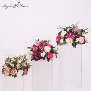 Wholesale Silk flower ball artificial DIY all kinds of flowers heads wedding decoration road lead wall hotel shop window decor T station