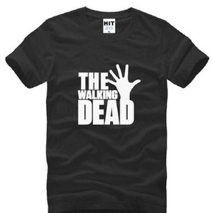 The Walking Dead loose Printed T Shirts Men Summer Style Short Sleeve O-Neck Cotton Men's T-Shirt Fashion US TV Fans Tee Shirt