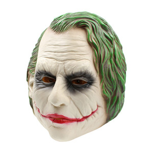 joker batman großhandel-Joker Maske Realistische Batman Clown Kostüm Halloween Maske Erwachsene Cosplay Film Vollen Kopf Latex Party Maske