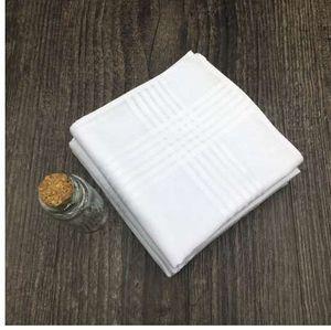 12pcs lot 100% Cotton Handkerchief White Hanky Pocket Squares Hanky 40cm*40cm