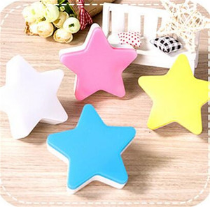 Wholesale Creative Star Shape Nightlight LED Intelligence Induction Lamp Automatic Switch Light Sensor Household Supplies Energy Saving Durable cz Y