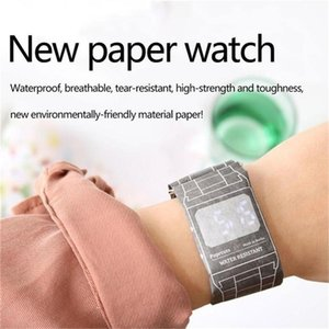 Wholesale Creative Paper Watch LED Waterproof Digital Papers Christmas Gift For Children Newest Arrival Cradle Design