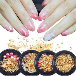 Wholesale nail art pearl stickers for sale - Group buy Mixed Style Metal Nail Art Decoration Pearl Rhinestones Nails Crystal Stones Sticker Manicure Accessories Tips Nail Tools F533