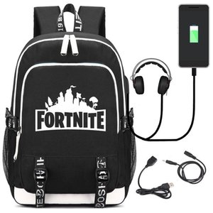 Backpack Schoolbag with USB Charging Port and Headphone Jack Loptop Student School Bags for Teenage Girls and Boys