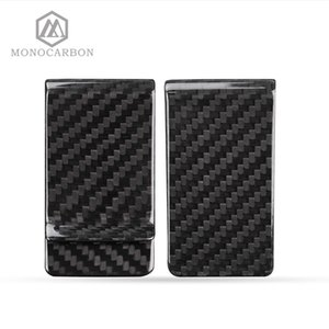 Monocarbon Minimalist Genuine Carbon Fiber Money Clips Wallets