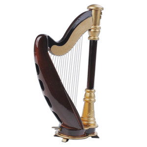 Free Shipping Wooden Mini Instruments Model Harp Mini Harp Model