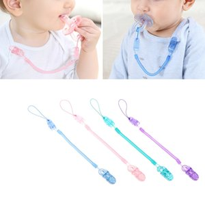 Wholesale Translucent Anti Out Baby Pacifier Clip Chain Stretchable cm with Spring Pacifier Chain Baby Items for Colors