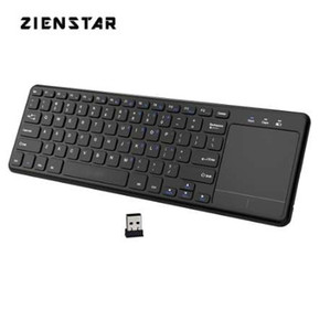 Wholesale htpc laptop for sale - Group buy Zienstar Ghz Touchpad Wireless Keyboard for Windows PC laptop ios pad Smart TV HTPC IPTV Android Box