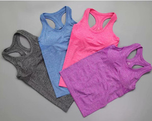Wholesale Sleeveless Sports T Shirts Women Summer Casual T shirt Logo Printed Tank Top Sexy Girls Sports Camisoles Quicky Dry Running Yoga Vest