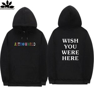 Travis Scott Astroworld WISH YOU WERE HERE hoodies fashion letter print Hoodie streetwear Man and woman Pullover Sweatshirt on Sale