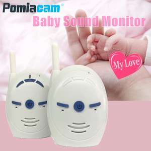 Wholesale Portable GHz Digital Audio Baby Monitor V20 Two Way Radio Babysitter Audio Voice Monitoring Crying Alarm Baby Sound Monitor