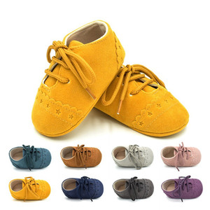 Wholesale 8 Color Baby stars shoelace style shoes New baby Boys and girls newborn soft sole first walker shoes B