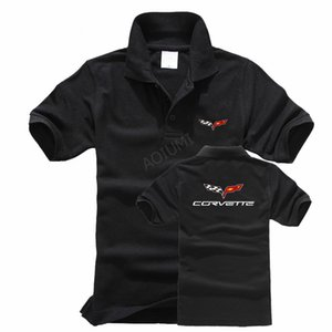 Wholesale 2018 Designer New Chevrolet Corvette Polo Shirts Men Summer Fashion Mens Cotton Polos Casual Outwear Solid Colours Luxury Polo