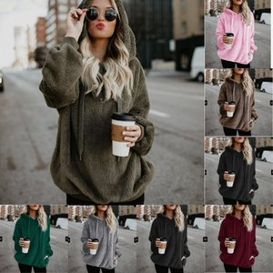 S-4XL Women Sherpa Fleece Sweatshirts Winter Autumn Warm Corduroy Designer Oversize Hoodie Fashion Home Clothes 28fy hh