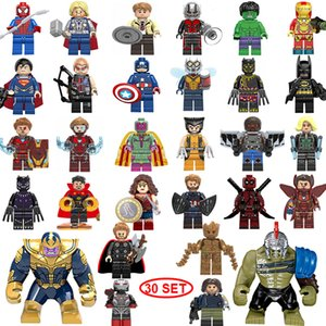 Wholesale NEW super hero Mini Figures 30SET Thanos Big Hulk Wonder woman Deadpool Logan Black Panther Doctor Strange Building blocks kids gifts