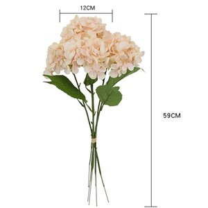 Wholesale New Arrival Lovely Artificial Flowers Silk Hydrangea Hand Bouquet Hydrangea Silk Flowers Wedding Favors Home Wedding Decoration