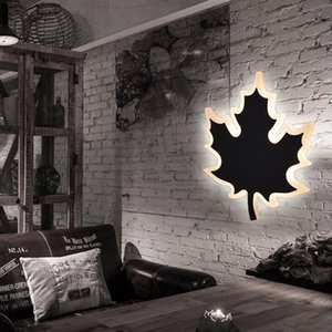 Wholesale Modern W led Maple leaves wall lamp bedroom bedside light Indoor Kitchen Dining Room Corridor Wall Lighting Acrylic Material