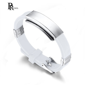 Silicone Stainless Steel ID Identification Bracelet