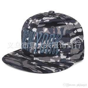Wholesale 2019 new Korean version of the new york camouflage flat brimmed hats hip hop hip hop hat summer fashion for men and women