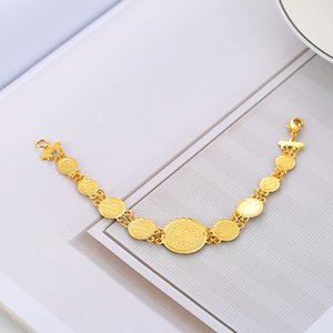 Wholesale Fashion Classic Money Coin Bracelet Muslim Coins Bracelet for Women Middle Eastern Arab Jewelry Accessories Gifts