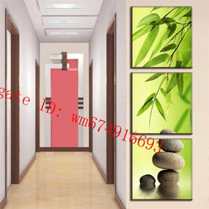 Wholesale Bamboo Stone Pieces Home Decor HD Printed Modern Art Painting on Canvas Unframed Framed