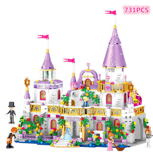 731pcs Romantic Castle Princess Friend Girl Building Blocks Bricks For Children Sets Toys Compatible With LegoINGlys Friends on Sale