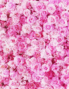 Digital Printed Pink Roses Photographic Backgrounds Baby Newborn Photography Props Valentines Day Wedding Flowers Wall Photo Booth Backdrop