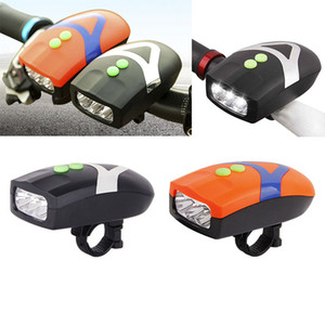 3 LED Bike Bicycle Light Universal White Front Head Cycling Lamp + Electronic Bell Horn Hooter Siren Waterproof Accessories