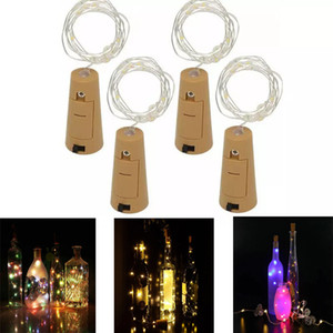 Wholesale 1M LED M LED Lamp Cork Shaped Bottle Stopper Light Glass Wine LED Copper Wire Strings Lights For Xmas Party Wedding Halloween