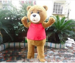 Wholesale 2018 Hot sale Teddy Bear Adult Mascot Costume for Valentine s L Day Thanksgiving Day Christmas Halloween Mascot Costume
