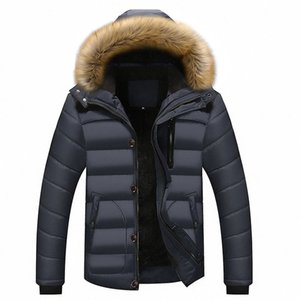 Wholesale brushed Thicken Jacket Warm Winter Duck Down Jacket for Men Fur Collar Parkas Hooded Coat Plus Size Overcoat M XL New