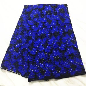 Wholesale High Quality African Lace Fabrics blue Color African Cord Lace Factory Price Guipure Lace Fabrics For Wedding