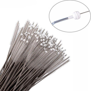 Wholesale 17cm Stainless Steel Water Cup Straw brushes Pipe Cleaners Feeding Bottle Brush bar Cleaning Kitchen Accessories Tools FFA667 1200PCS