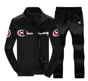 b02e4e158aa42e Autumn Designer Men Tracksuit Set Zipper Hoodies Jacket Letter Printed Long  Sleeve Outwear Black Two pcs