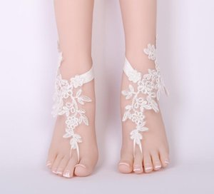 Fashion Women Lace Barefoot Sandal Beach Wedding Foot Anklet Flower Bride wedding prom accessory Foot jewelry
