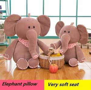 Wholesale New feather cotton scarves small elephant pillow doll plush toys very soft seat elephant pillow Decorative Pillow I453