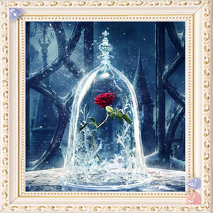 Wholesale 5d rhinestone for sale - Group buy Full Square Diamond D DIY Diamond Painting quot Red Rose Flower quot Embroidery Cross Stitch Rhinestone Mosaic Painting Home Decor