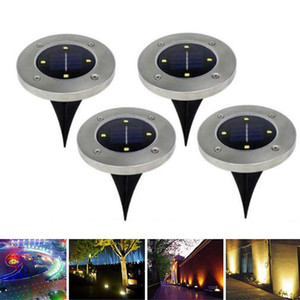 Wholesale New Buried Light Solar Powered Ground Light Waterproof Garden Pathway Deck Lights With LEDs Solar Lamp for Home Yard Driveway Lawn Road