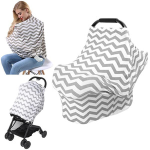 Wholesale Mother Feeding Maternity Breast Nursing Covers Multi functional Outdoor Sunshade Elastic Apron Shawl Towel Scarf Stroller Cover