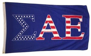 Wholesale 150cm cm Sigma Alpha Epsilon SAE USA Letter National Flag Banner FT Polyester Custom Hanging Home Decorative