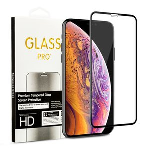 Wholesale For iPhone XS MAX XR X Plus S D Clear Curved Tempered Glass Screen Protector Protective Film With Retail Package
