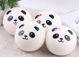 Wholesale Cute cm Panda Squishy Kawaii Buns Bread Charms Bag Key Cell Phone Straps Pair Random Soft Panda Squishy Bread Semll