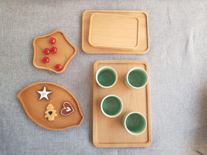 Wholesale tray tables resale online - Environmental New Japanese Wooden Breakfast Snack Bread Plates Creative Square Tea Tray Western Food Table Wood Dish