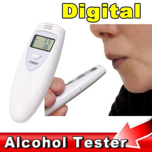 High Quality Alcohol Tester Digitale Portable LCD Alcohol Tester Breath Breathalyzer Breathalizer Detector DHL UPS Free Shipping on Sale