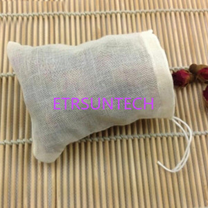 Pure Cotton Yarn Bag 60 X 80mm Tea Filter Bags Drawstring Strainer Repeated Use Cotton No Bleach QW7789